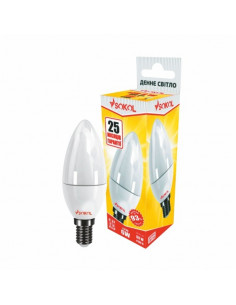 Светодиодная LED лампа свіча 6w 220В E14 4100К Sokol