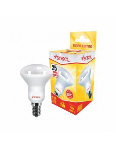 Светодиодная LED лампа R50 AL 7w 220В E14 3000К Sokol