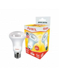 Светодиодная LED лампа R63 AL 10w 220В E27 4100К Sokol