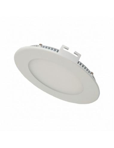 Светильник встроеный LED-PANEL 6w d120мм aluminium 480Lm IP20