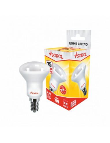 Светодиодная LED лампа R50 AL 7w 220В E14 4100К Sokol