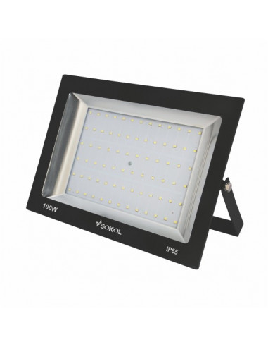 Прожектор LED-SLТ 100w 220В 6500lm 6500K Sokol алюминиевый