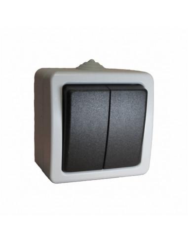 Выключатель 2кл влагозащищенный IP54 Титан