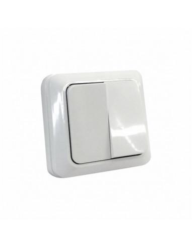 Выключатель 2кл накладной белый ТМ 220