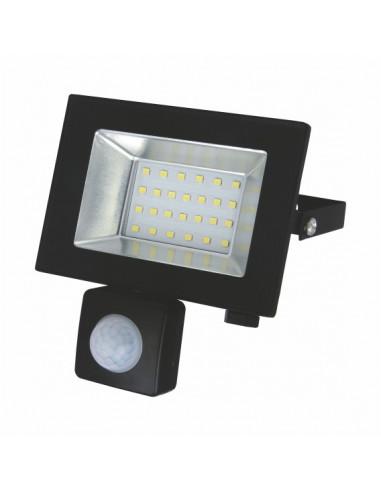 Прожектор LED-SLТ 20w 220В 1500lm 6500K Sokol з датчиком руху