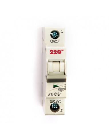 Автоматический выключатель 1Р 16А (6кА) ТМ 220
