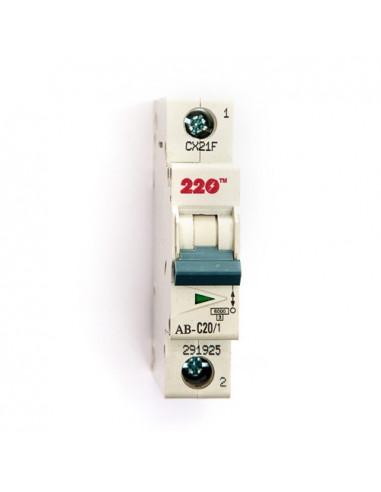 Автоматический выключатель 1Р 20А (6кА) ТМ 220