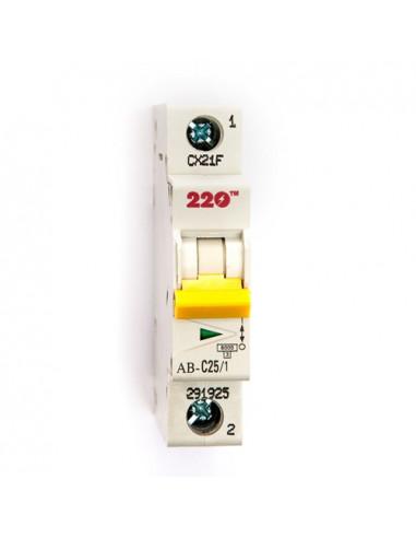 Автоматический выключатель 1Р 25А (6кА) ТМ 220