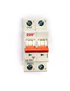 Автоматический выключатель 2Р 10А (6кА) ТМ 220