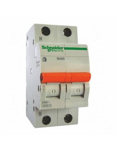 Автоматический выключатель ВА63 C 2Р 20А Schneider Electric