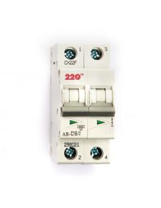Автоматический выключатель 2Р 16А (6кА) ТМ 220