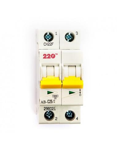 Автоматический выключатель 2Р 25А (6кА) ТМ 220