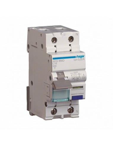 Устройство защитного отключения Hager 2P AD990J С 40A 30mA (6kA)