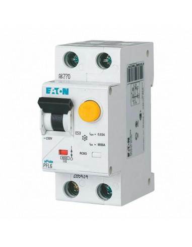 Устройство защитного отключения PFL6 1P+N C 20А 0.03 Eaton