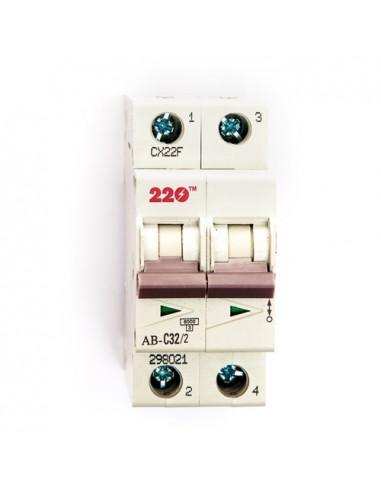 Автоматический выключатель 2Р 32А (6кА) ТМ 220