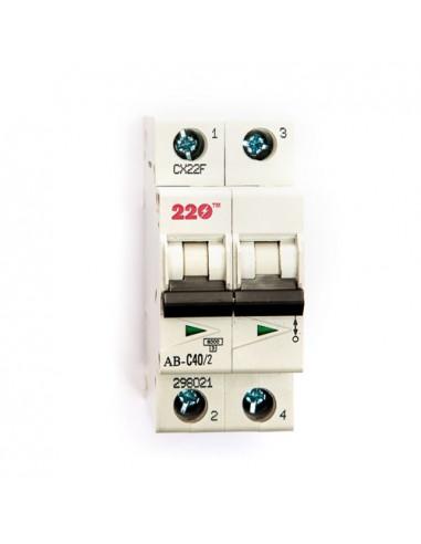 Автоматический выключатель 2Р 40А (6кА) ТМ 220