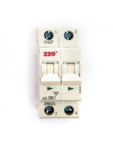 Автоматический выключатель 2Р 50А (6кА) ТМ 220