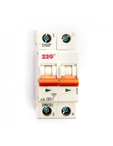 Автоматический выключатель 2Р 63А (6кА) ТМ 220