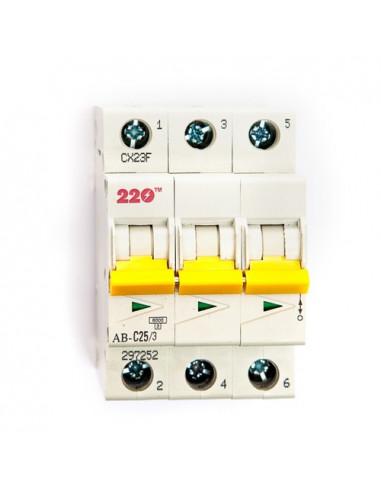 Автоматический выключатель 3Р 25А (6кА) ТМ 220