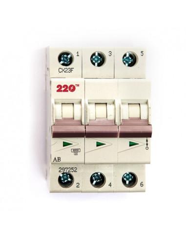 Автоматический выключатель 3Р 32А (6кА) ТМ 220