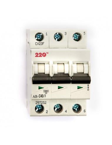Автоматический выключатель 3Р 40А (6кА) ТМ 220