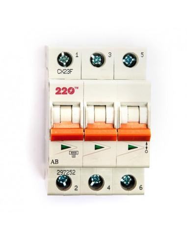 Автоматический выключатель 3Р 63А (6кА) ТМ 220
