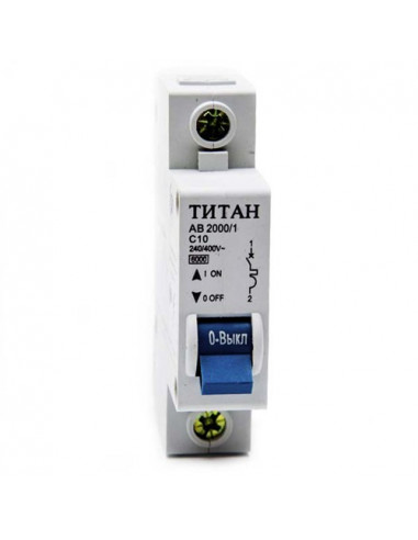 Автоматический выключатель 1Р 10А (6кА) Титан