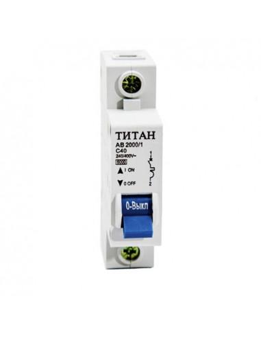 Автоматический выключатель 1Р 40А (6кА) Титан