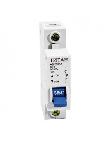 Автоматический выключатель 1Р 63А (6кА) Титан