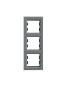 Рамка Schneider Asfora 3-местная вертикальная графит EPH5801370