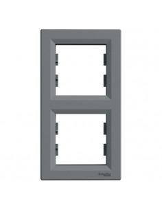 Рамка Schneider Asfora 2-местная вертикальная графит EPH5801170