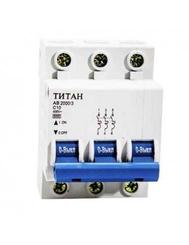 Автоматический выключатель 3Р 10А (6кА) Титан