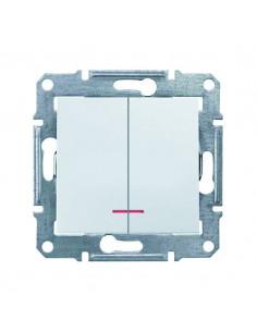 Выключатель Schneider Sedna 2кл с подсветкой белый SDN0300321
