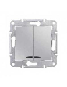 Выключатель Schneider Sedna 2кл с подсветкой алюминий SDN0300360