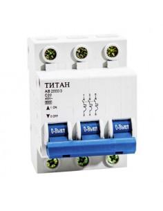 Автоматический выключатель 3Р 20А (6кА) Титан