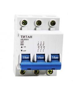 Автоматический выключатель 3Р 25А (6кА) Титан