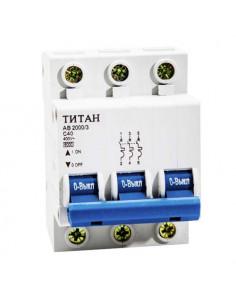 Автоматический выключатель 3Р 40А (6кА) Титан