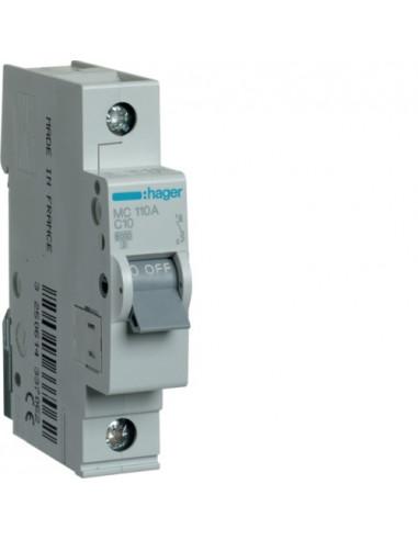 Автоматический выключатель MC110A 10А 1P С (6кА) Hager