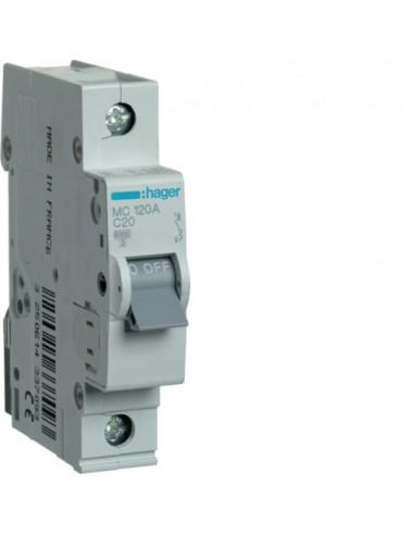 Автоматический выключатель MC120A 20А 1P С (6кА) Hager