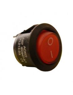Переключатель 1кл круглый красный YL213-03