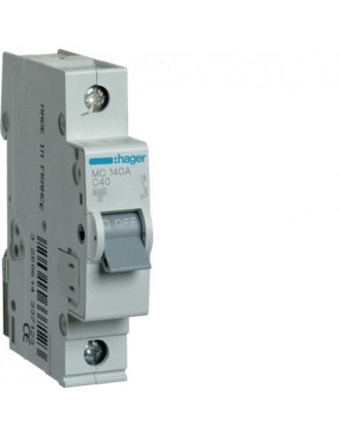 Автоматический выключатель MC140A 40А 1P С (6кА) Hager