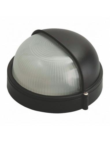 Светильник 60w круглый с козырьком черный SL-1056