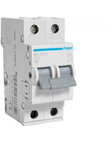Автоматический выключатель MC225A 25А 2P С (6кА) Hager