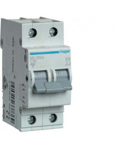 Автоматический выключатель MC232A 32А 2P C (6кА) Hager
