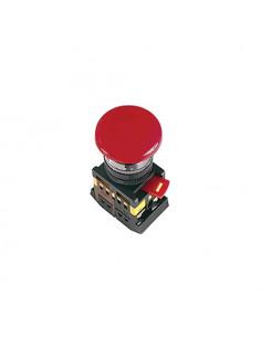 Кнопка AEAL22 гриб с фиксацией красная d22 240В 1з+1р ІЕК