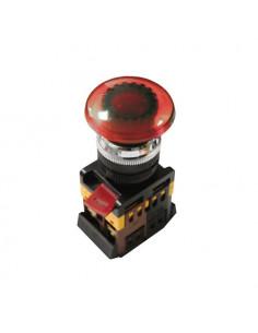 Кнопка AELA22 гриб красная d22 неон 240В 1з+1р ІЕК