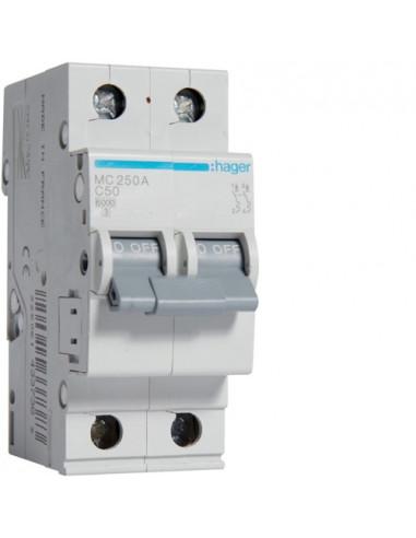 Автоматический выключатель MC250A 50А 2P С (6кА) Hager