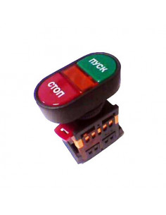 Кнопка APBB-22N Пуск-Стоп d22 неон 240В IEK