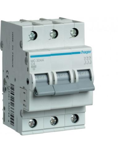 Автоматический выключатель MC304A 4А 3P С (6кА) Hager