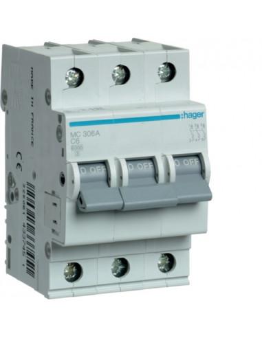 Автоматический выключатель MC306A 6А 3P С (6кА) Hager